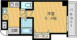 サーペント中津[6階]の間取り