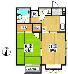 トレド原宿A棟(トレドハラジュクAトウ)[2階]の間取り