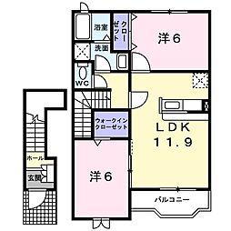 グラントゥール1[2階]の間取り