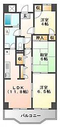 リバーサイド江坂[2階]の間取り