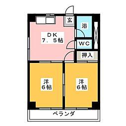 メゾン高松[2階]の間取り