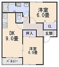ラ・ショコラ[2階]の間取り
