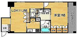 リーガル京都四条河原町通りII[202号室号室]の間取り