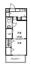 モントーレ六本松[4階]の間取り