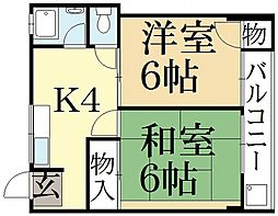 紫竹ハイム[2階]の間取り