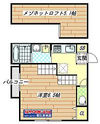 若江岩田駅徒歩8分 新築アパート[101号室]の間取り