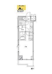 JR京浜東北・根岸線 川崎駅 徒歩21分の賃貸マンション 6階1Kの間取り