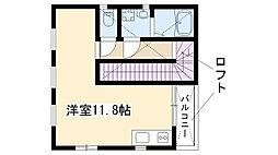 愛知県名古屋市瑞穂区内方町2丁目の賃貸アパートの間取り
