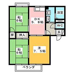 フロンティア A棟[1階]の間取り