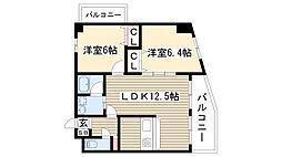 愛知県名古屋市守山区菱池町の賃貸マンションの間取り