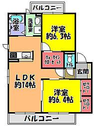 シャーメゾン ケネンボーム[2階]の間取り