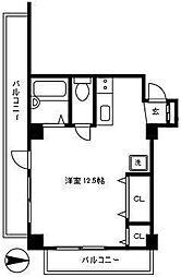 パレス代々木[2階号室]の間取り