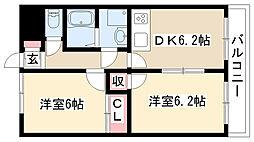 愛知県名古屋市南区柴田本通1丁目の賃貸マンションの間取り