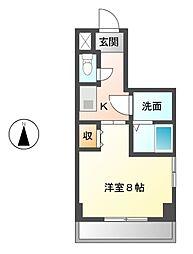 愛知県名古屋市中川区山王4丁目の賃貸マンションの間取り