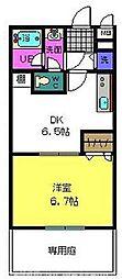大阪府交野市倉治6丁目の賃貸アパートの間取り