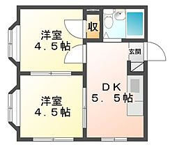 神奈川県川崎市高津区末長1丁目の賃貸アパートの間取り