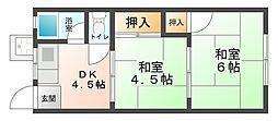 大阪府大阪市平野区平野南1丁目の賃貸マンションの間取り