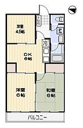カーサふじみ野4階Fの間取り画像