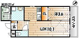 RENACE黒崎[2階]の間取り