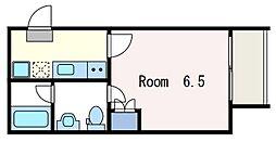 東京メトロ丸ノ内線 中野新橋駅 徒歩6分の賃貸アパート 1階1Kの間取り