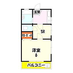 東京都足立区伊興本町2丁目の賃貸アパートの間取り