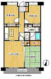 サニーフォレスト藤原壱番館[5階]の間取り