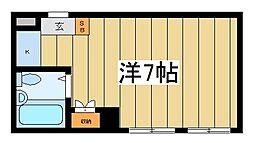 東京都台東区東上野3丁目の賃貸マンションの間取り
