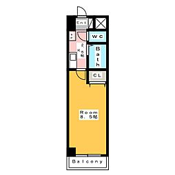 A・City朝日町[5階]の間取り