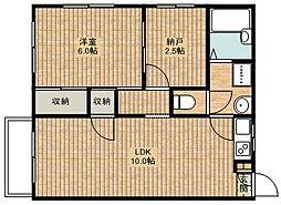 神奈川県川崎市高津区坂戸3丁目の賃貸アパートの間取り