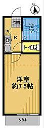 アゼル白糸台[201号室]の間取り