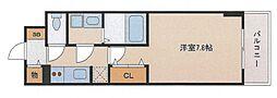 サムティ大阪WESTグランジール[209号室号室]の間取り