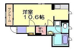 レジナスコート[1階]の間取り