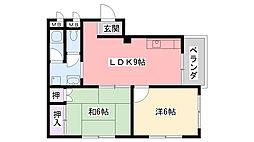 タイガースマンション[3階]の間取り