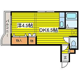 北海道札幌市東区北二十七条東17丁目の賃貸マンションの間取り