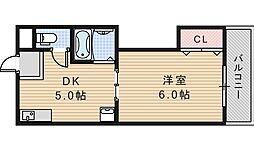 川口マンション[3階]の間取り