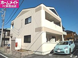 愛知県豊田市越戸町安貝戸の賃貸アパートの外観