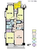 3LDK・専有面積68.01平米・バルコニー面積6.2平米