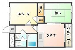 マンション12番館[3階]の間取り