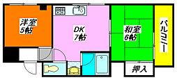 すみれプラザ・長堂 201号室[2階]の間取り