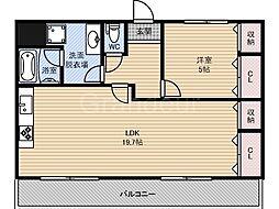 京橋アドバンス21[5階]の間取り