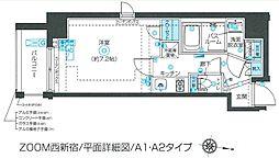 ズーム西新宿 7階1Kの間取り