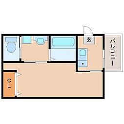 阪神本線 杭瀬駅 徒歩3分の賃貸マンション 4階1Kの間取り