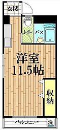 宮川マンション[3号室]の間取り