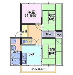 メゾン幹[1階]の間取り