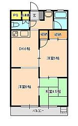 エントピア松戸[6階]の間取り
