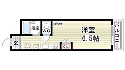 兵庫県神戸市灘区篠原南町4丁目の賃貸マンションの間取り