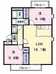 カトルセゾン五反田A[0201号室]の間取り
