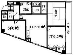 ロジュマン泉佐野[701号室]の間取り