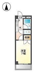ヤマヨシマンション[4階]の間取り