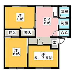 ファミール横割[1階]の間取り